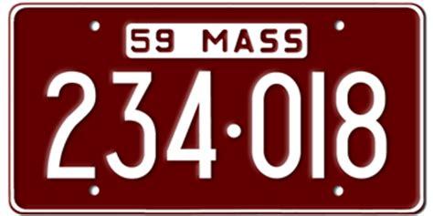 Mass Vanity Plate by Massachusetts State License Plates Vanity License Plate