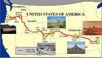 map of the oregon trail with landmarks oregon trail quiz it all