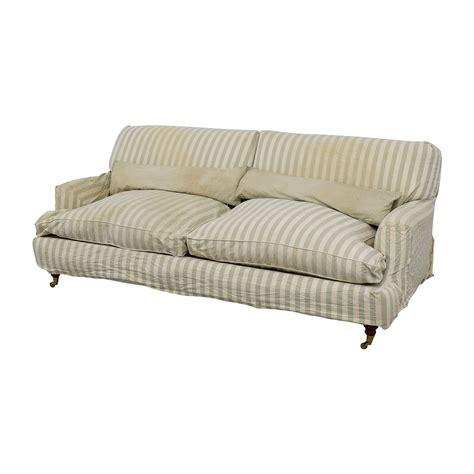 english roll arm sofa 90 off green and white striped english roll arm sofa