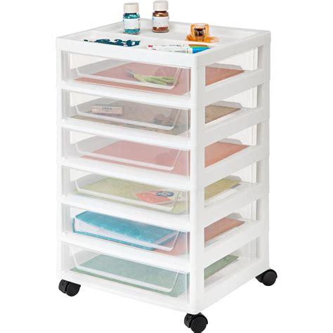 iris 6 drawer cart iris 90 qt 6 drawer scrapbook cart in white 585451 the