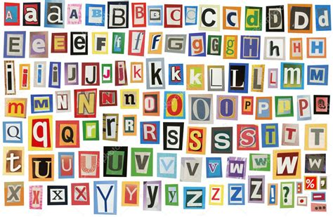 printable magazine letters free newspaper alphabet stock photo 169 tuja66 4927298