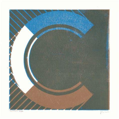 Decorative Letter C by A Two Colour Linocut Decorative Letter C
