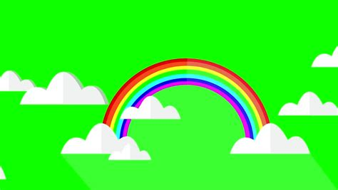 Rainbow Green rainbow in the cloud stock footage