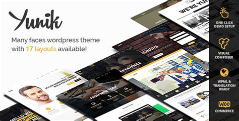 themeforest yunik yunik v1 3 ultimate multi concept wordpress theme