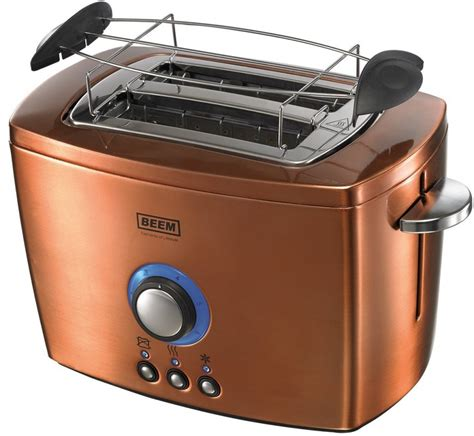 Copper Colored Toaster Beem D2001120 2 Slice Toaster Copper Style Defrost
