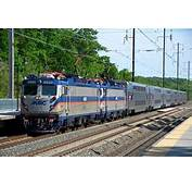 MARC Train With Bi Levels On The Penn Line At BWI Thurgood Marshall