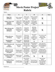 Book Report Poster Rubric by Poster Book Report Rubric Search Reading Book Reports And