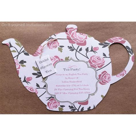 printable tea party invitation bridal tea party