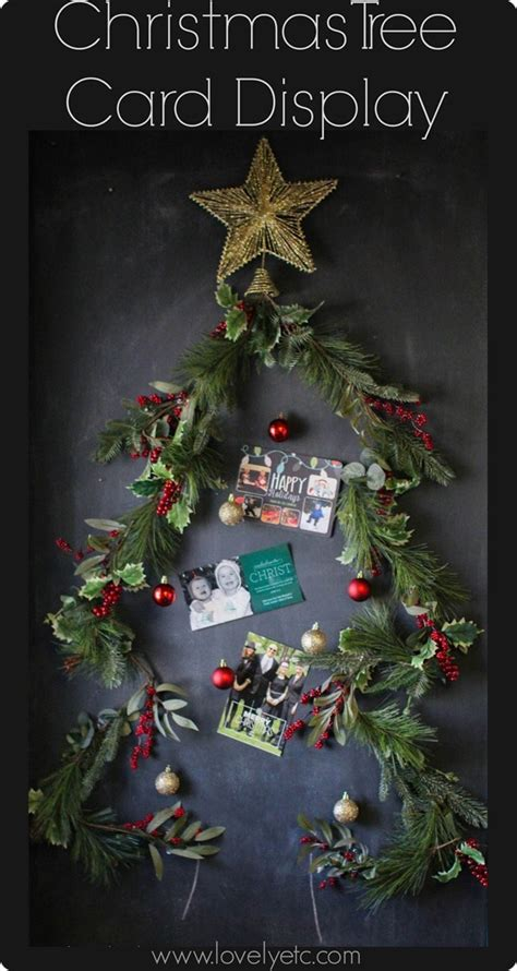 christmas tree card display lovely etc