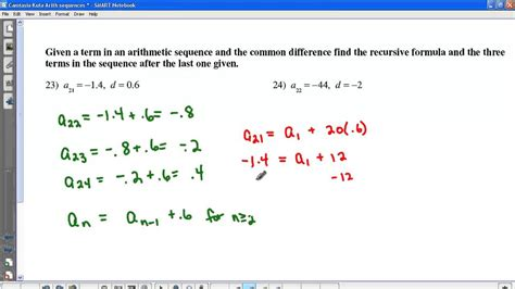 Arithmetic Sequence Worksheet Algebra 1 by Kuta Arithmetic Sequences Part Ii
