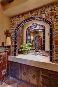 Mexican Tile Bathroom Ideas Spanish Delight Mediterranean Bathroom Other Metro