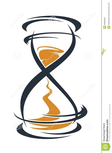 sketch hourglass timer stock images image 36483224