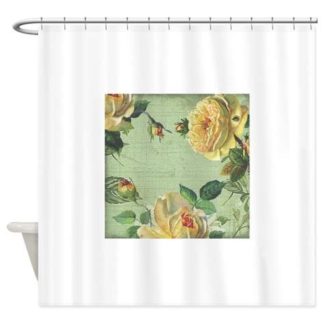 rose colored drapes beautiful vintage yellow rose shower curtain by