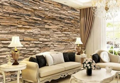 4206 Wallpaper Sticker Dinding Murah Golden Bricks 3d high view