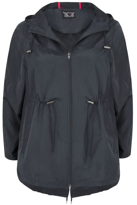 Jaket Parka Sensor Navy Pocket navy pocket parka jacket with plus size 16 to 36