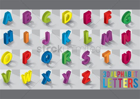 Letters Images 3d alphabet www imgkid the image kid has it