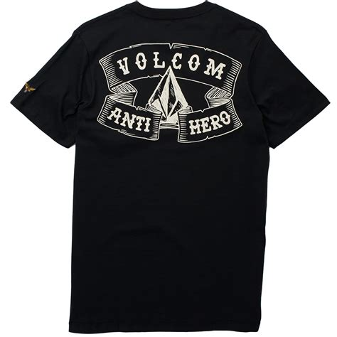 Tshirt Volcom X volcom x anti pocket crew t shirt black