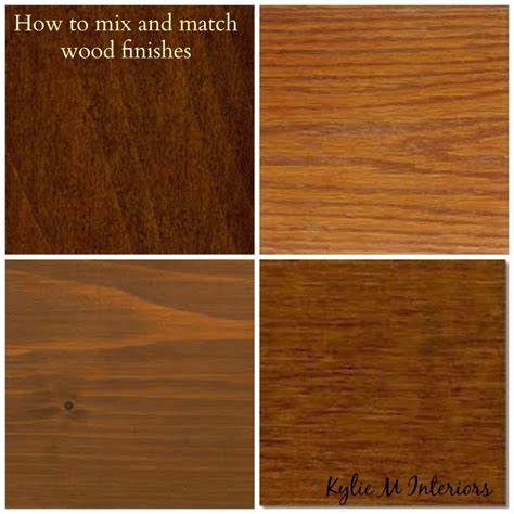 how to mix and match wood stains like oak, cherry, maple