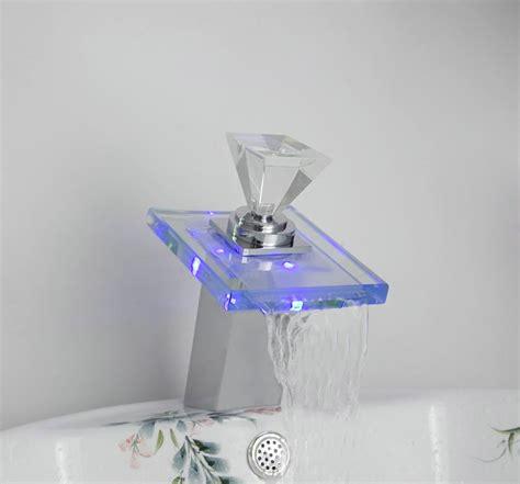 Glass Faucet by Novel Led Faucet Bathroom Basin Mixer Tap Chrome 3 Colors Brass Faucet Glass Faucet L 254 Faucet