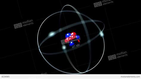 Proton Atom by Atom Single Nucleus Proton Neutron Electron Loop Stock