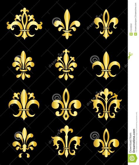 fleur de lis stock vector image of elements emblem