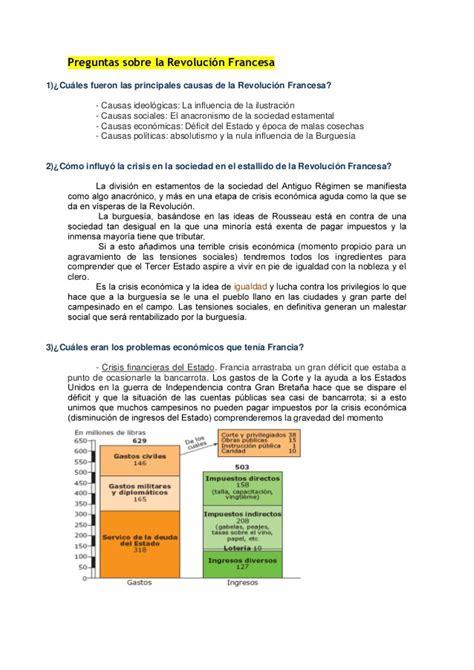 ejercicios de preguntas en frances preguntas revoluci 243 n francesa