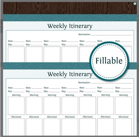 10 Itinerary Template Exles Templates Assistant Travel Planner Template