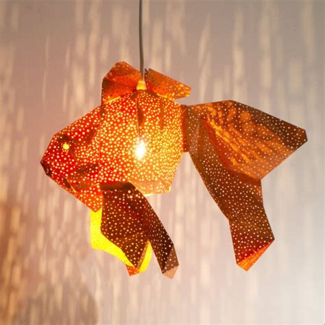 Craft Paper L Shades - papercraft light shades of aquatic by vasili ego