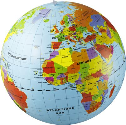 Monde Maxy caly le monde maxi globe gonflable 50 cm