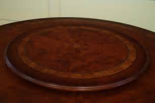 Dining Room Table With Lazy Susan round dining table with mahogany and walnut inaly gold