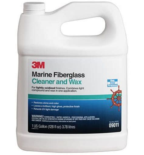 boat cleaner polish 3m marine cleaner and wax 09011 1 gal