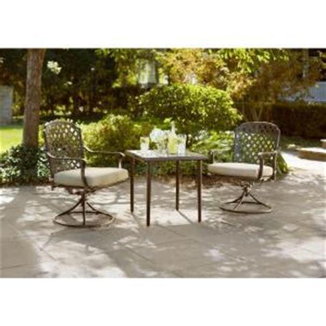 hton bay marysville 3 patio bistro set with beige