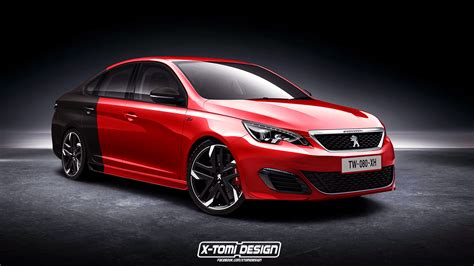 pug gti peugeot 308 sedan suits up in sharp gti overalls