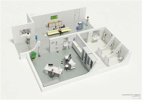 layout of hospital laundry 3d floor plans on behance