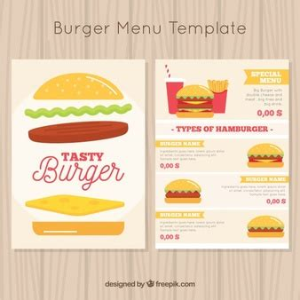 burger menu template menus vectors photos and psd files free