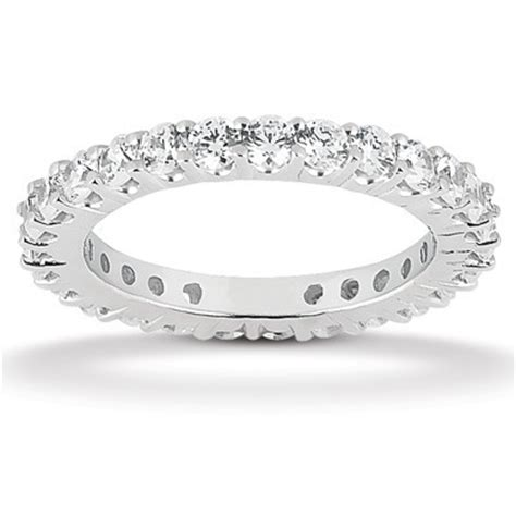 shared prong set eternity wedding bands and rings