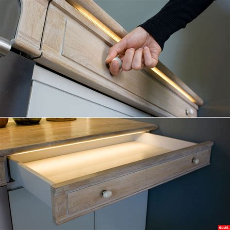 Kitchen Drawer Lights by Led Drawer Lighting Modern Kitchen St Louis By