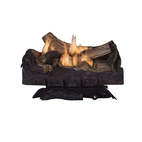 Emberglow Vent Free Fireplace by Emberglow Melbourne Oak 24 In Vent Free Gas Fireplace Logs Mvft24nl The Home Depot