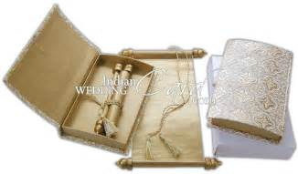 Indian Wedding Invitations Scrolls S755 Cream Color Shimmery Finish Paper Exclusive Invitations Scroll Invitations Jewish