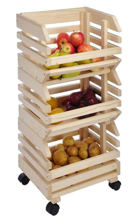 Wooden Kitchen Vegetable Storage Rack Vegetable Rack For Kitchen