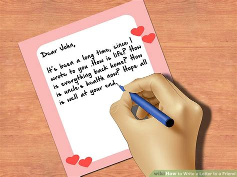 How To Write A Letter To A Friend