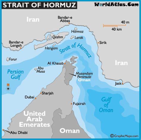 middle east map strait of hormuz strait of hormuz map and map of the strait of hormuz