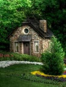 Small English Cottages Stone Cabin Love The Round Window Excellent Exteriors