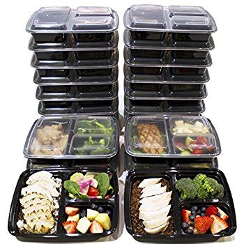 amazon.com: [20 pack] 32 oz. 2 compartment food containers