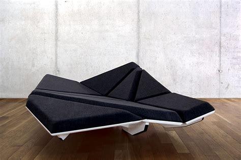 "Dynamic Designer Sofa ""Cay"" futuristic look Interior"