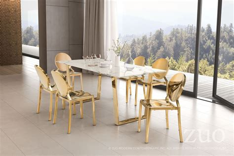 zuo atlas dining table atlas and gold dining table 100652 zuo modern