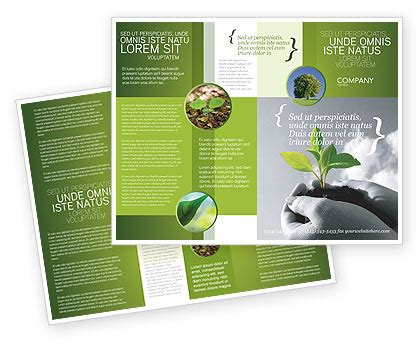 helping nature brochure template design and layout new sprout brochure template design and layout download
