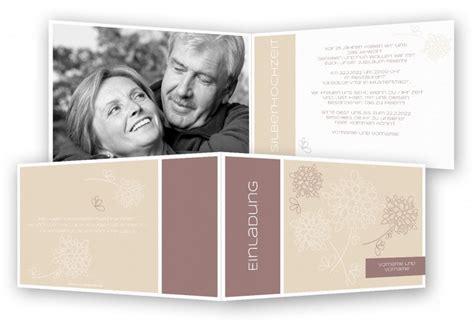 Hochzeitseinladung Einseitig by Silberhochzeit Einladungskarten Feinekarten