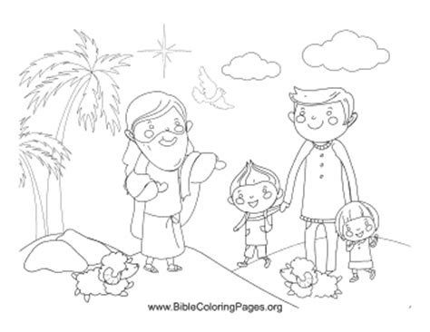 jesus blesses children coloring page