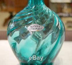 Blenko Handcraft - pair of blenko blown glass ls mid century modern